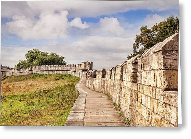 York City Walls, England Greeting Card by Colin and Linda McKie