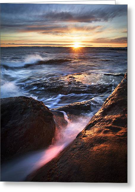 York Maine Seascape Greeting Card by Eric Gendron