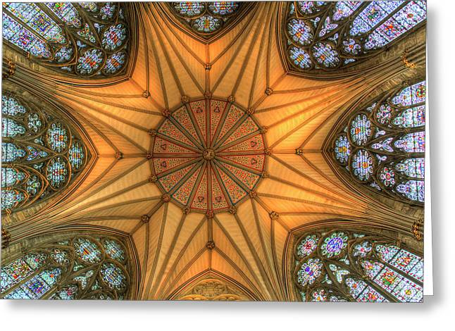 York Minster Chapter House Greeting Card