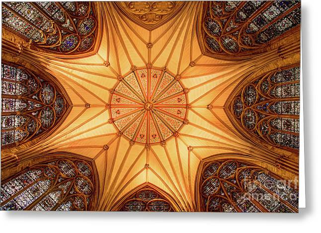 York Minster - Chapter House Greeting Card