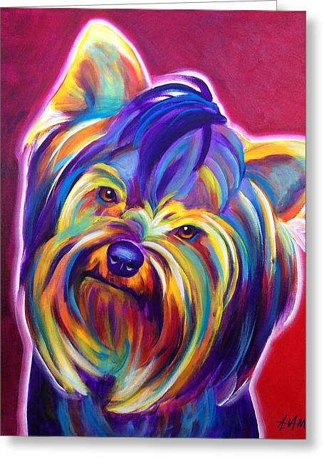 Yorkie - Gizmo Greeting Card by Alicia VanNoy Call