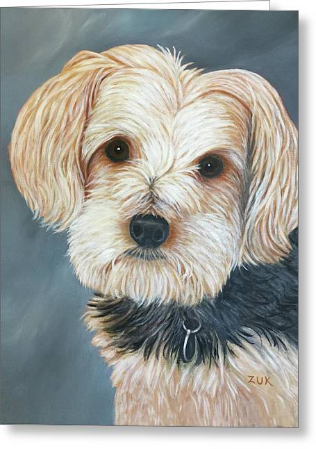 Yorkie Portrait Greeting Card
