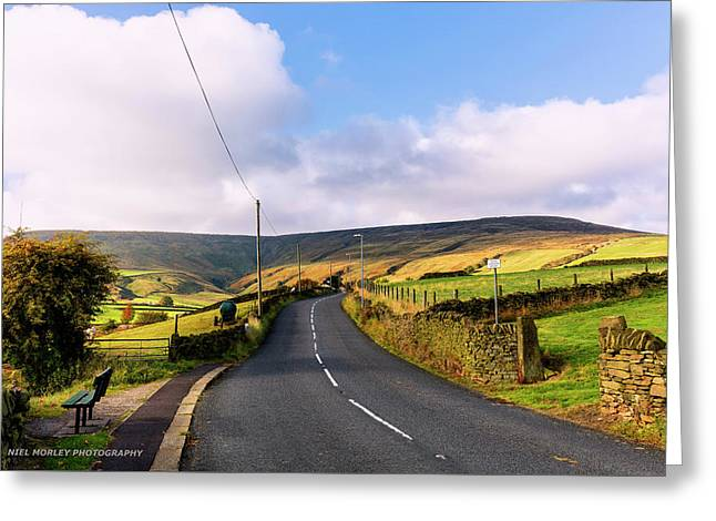Yorkshire Roads Greeting Card by Niel Morley