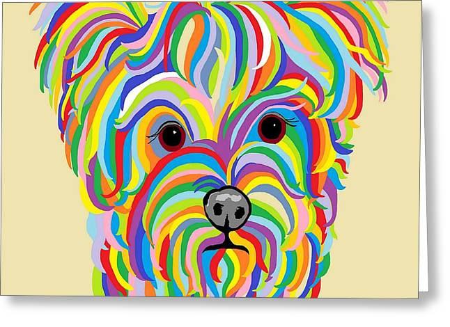 Yorkshire Terrier ... Yorkie Greeting Card by Eloise Schneider