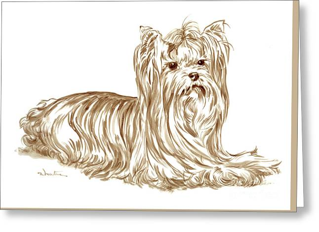 Yorkshire Terrier 1 Greeting Card by Meridith Martens