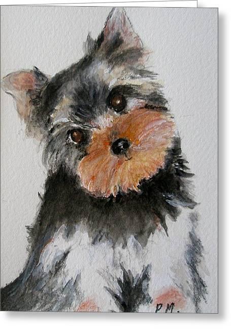 Yorkshire Terrier Greeting Card by Pamela Morris