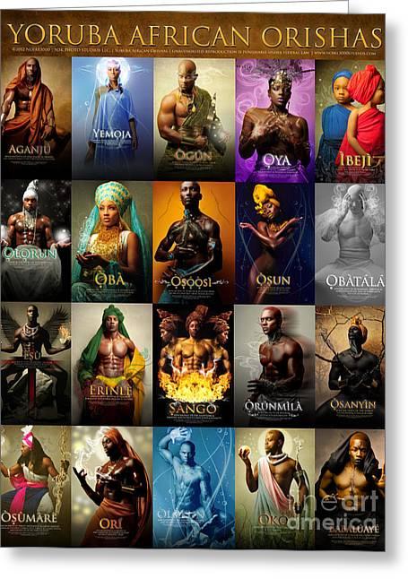 Yoruba African Orishas Poster Greeting Card by James C Lewis