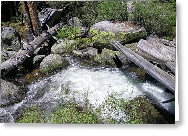 Yosemite Whitewater Greeting Card