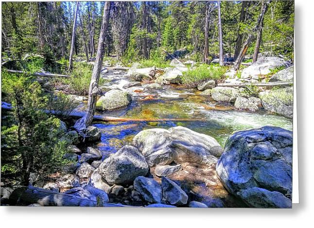 Yosemite Boulder Stream Greeting Card