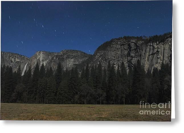 Yosemite At Night Greeting Card by Richard Verkuyl