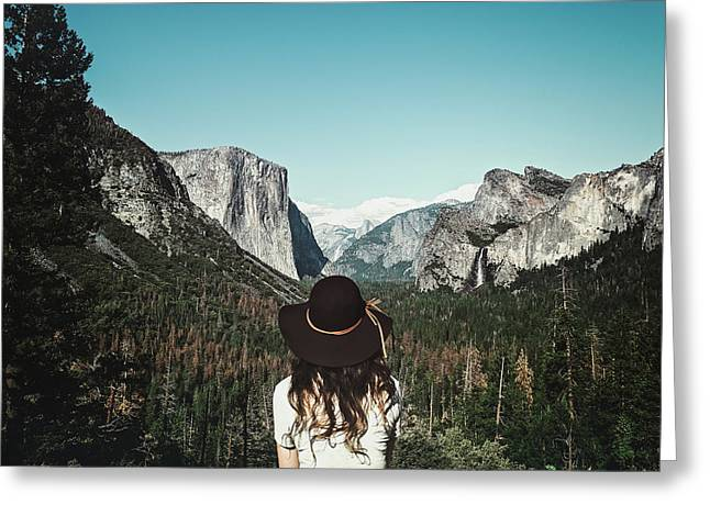 Yosemite Awe Greeting Card by Marji Lang