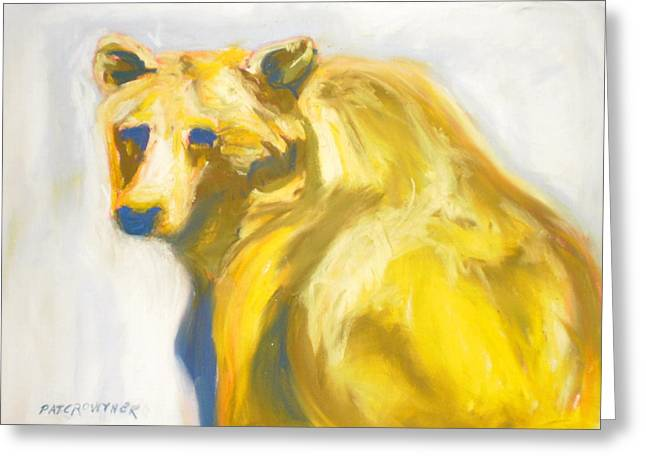 Greeting Card featuring the pastel Yosemite Bear by Pat Crowther