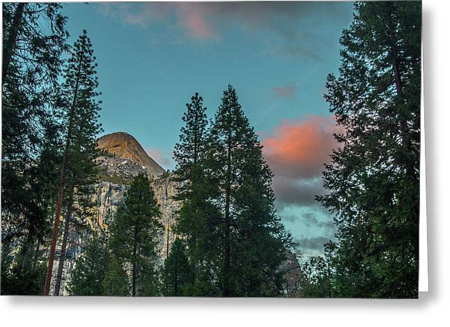 Yosemite Campside Evening Greeting Card