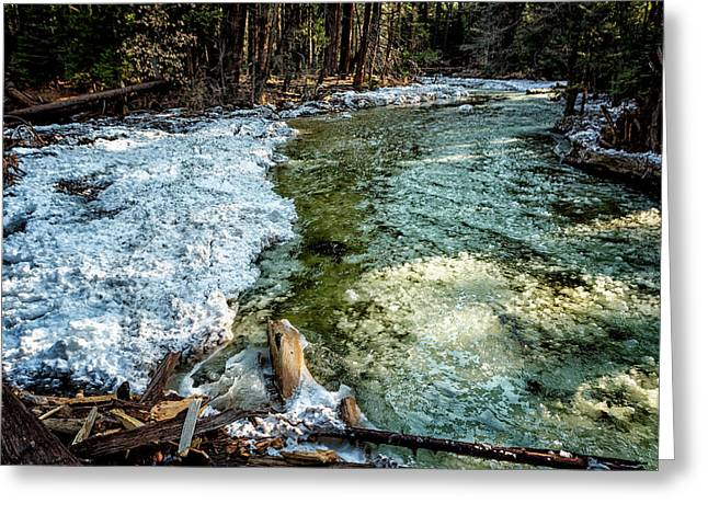 Yosemite Creek With Some Frazil Ice Greeting Card