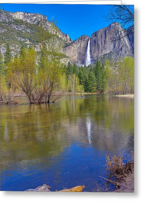 Greeting Card featuring the photograph Yosemite Falls Cook's Meadow by Scott McGuire