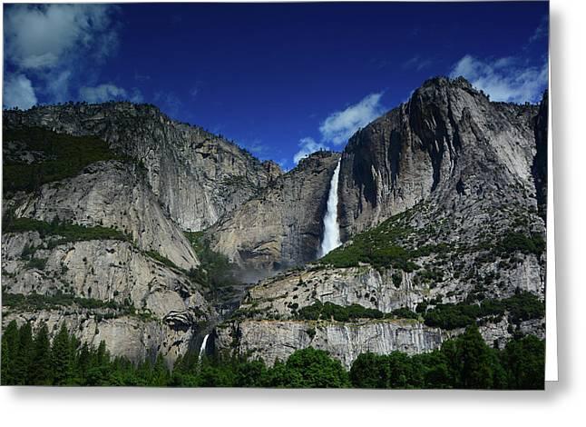Yosemite Falls From Cook's Meadow Greeting Card by Raymond Salani III