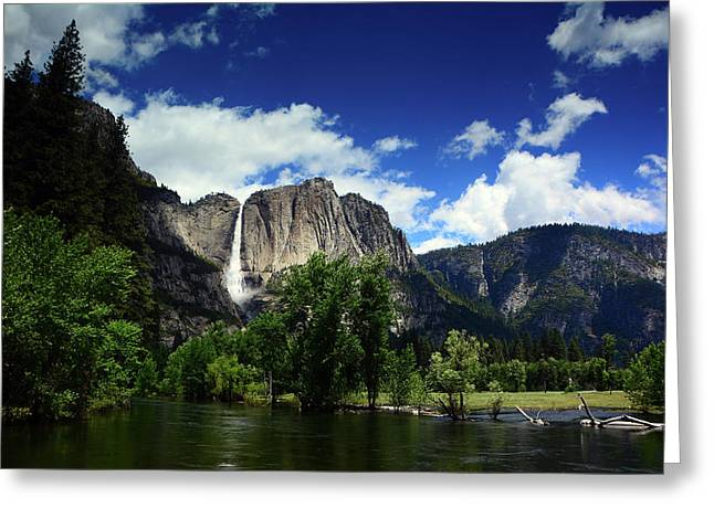 Yosemite Falls From Swinging Bridge Greeting Card by Raymond Salani III