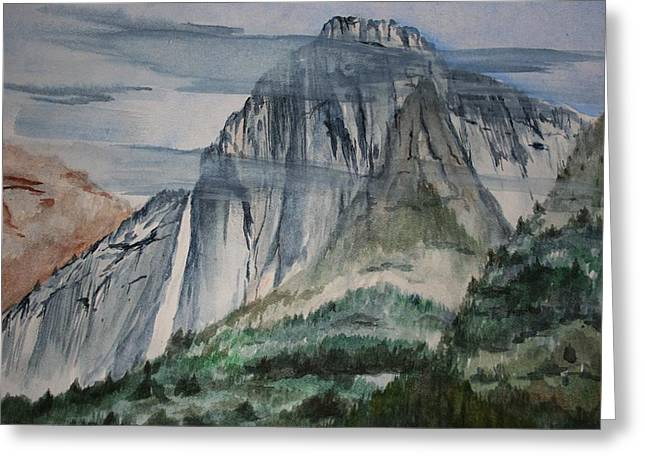 Yosemite Falls Greeting Card by Julie Lueders