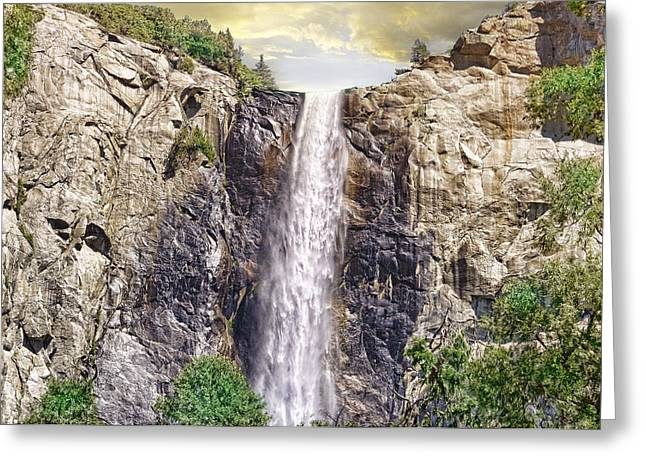 Greeting Card featuring the photograph Yosemite Falls by Michael Cleere