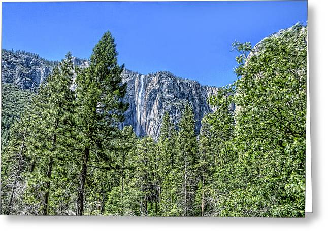 Greeting Card featuring the photograph Yosemite Falls2 by Michael Cleere