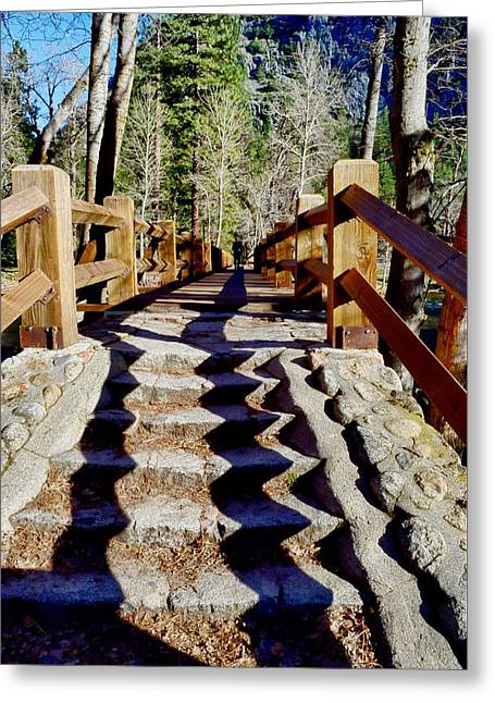 Yosemite Footbridge  Greeting Card