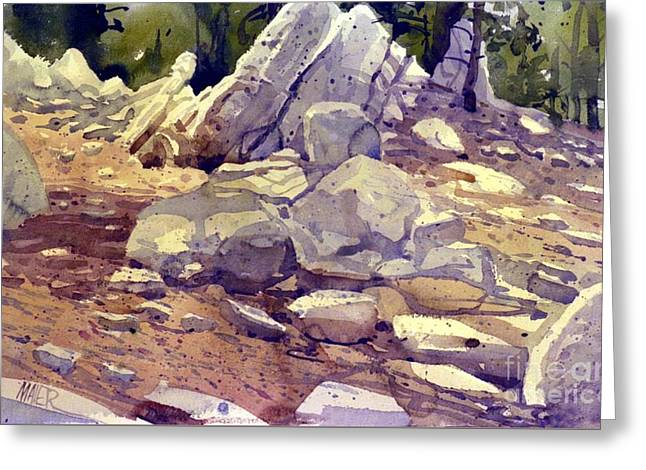 Yosemite Granite Greeting Card by Donald Maier