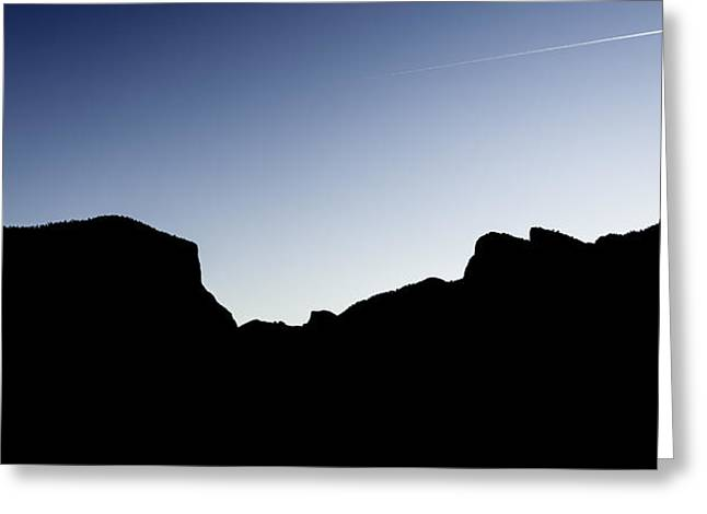 Yosemite In Silhouette Greeting Card