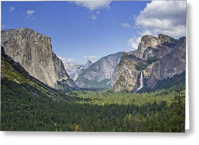 Tunnel View Greeting Cards - Yosemite National Park - California Greeting Card by Brendan Reals