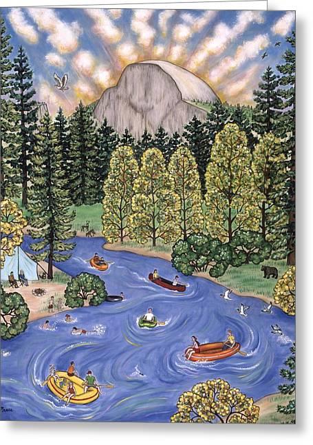 Yosemite National Park Greeting Card by Linda Mears