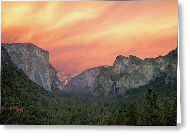 Yosemite - Red Valley Greeting Card by Francesco Emanuele Carucci