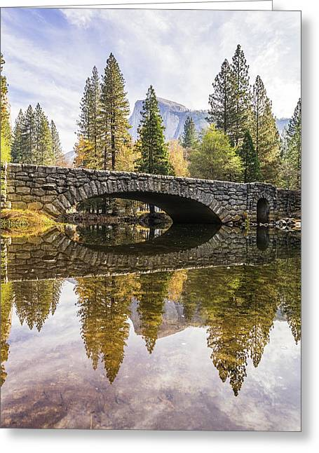 Yosemite Reflections Greeting Card by Alpha Wanderlust