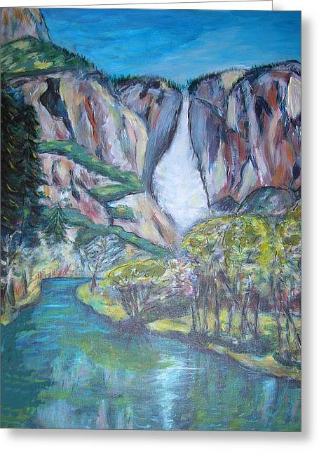 Yosemite Reflections Greeting Card by Carolyn Donnell