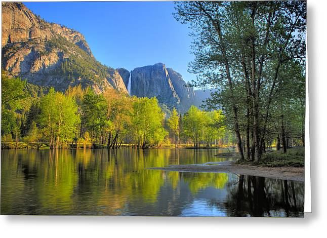 Greeting Card featuring the photograph Yosemite Reflections by Kim Wilson