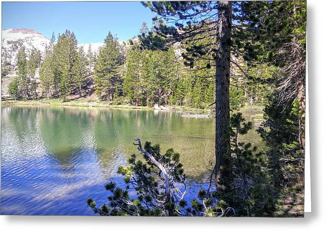 Yosemite Lake Greeting Card