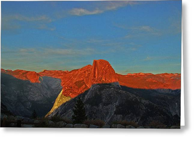 Greeting Card featuring the photograph Yosemite Summer Sunset Abstracted 1 by Walter Fahmy