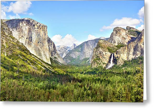 Yosemite Tunnel View Afternoon Greeting Card