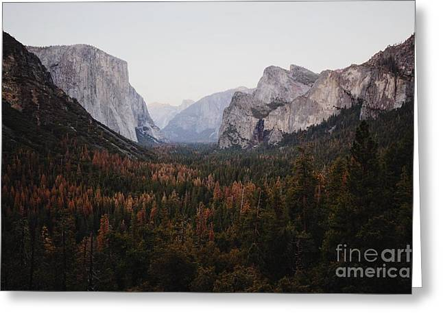 Yosemite Tunnel View Greeting Card by JR Photography