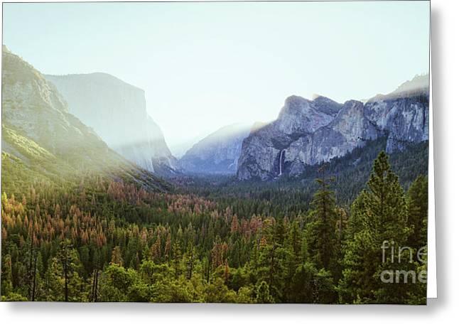 Yosemite Valley Awakening Greeting Card by JR Photography