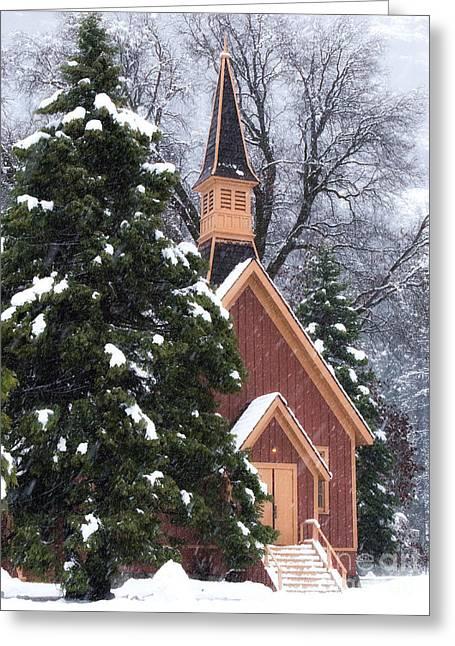 Yosemite Valley Chapel  Greeting Card