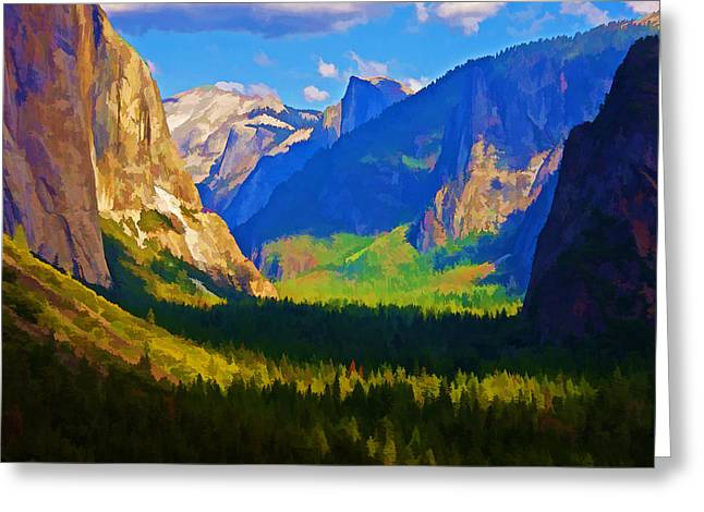 Yosemite Valley Greeting Card by Dennis Cox WorldViews