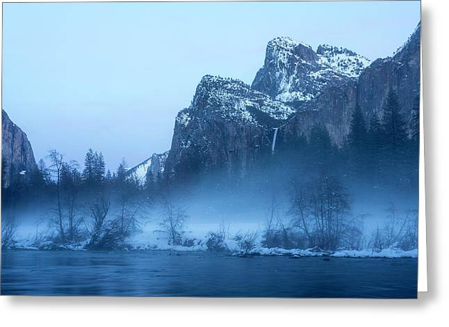 Yosemite Valley Evening Mist Greeting Card by Garry Gay