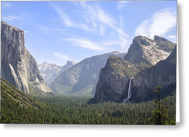 Yosemite Valley Greeting Card by Francesco Emanuele Carucci