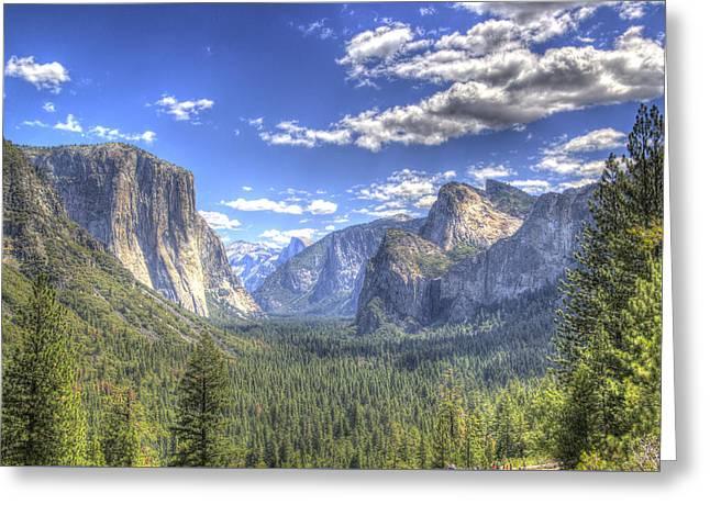 Yosemite Valley Hdr Greeting Card