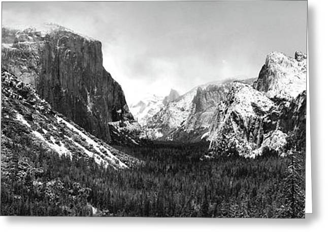 Yosemite Valley Not Clearing Winter Storm Greeting Card