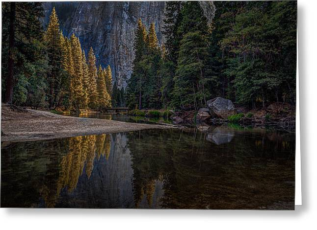Yosemite Valley Reflections 1 Greeting Card