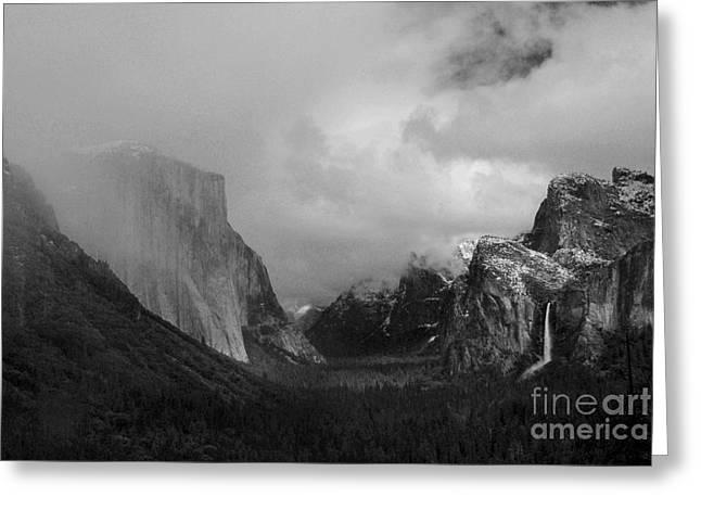 Yosemite Valley Greeting Card by Richard Verkuyl