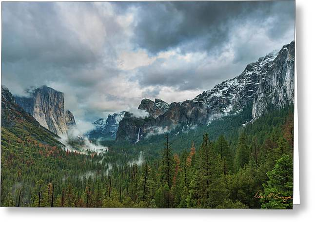 Yosemite Valley Storm Greeting Card