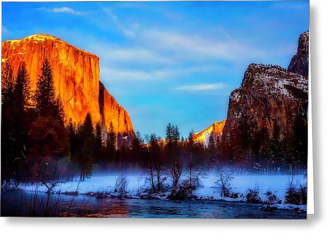Yosemite Valley Sunset Greeting Card