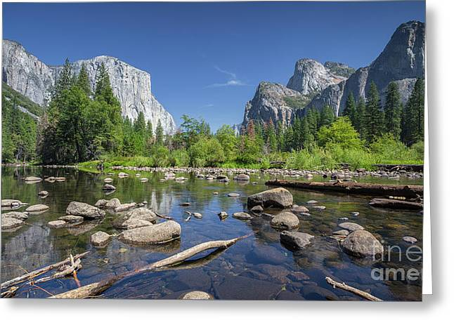 Yosemite Valley View Greeting Card by JR Photography