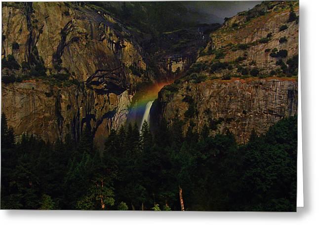 Yosemite Moonbow 3 Greeting Card by Raymond Salani III
